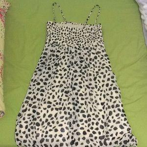 Cheetah Print Mini Dress with Silky Underlining